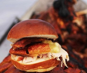 Hog Roast in Brioche Bun